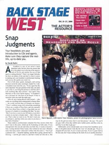 Backstage West - Snap Judgments - Page 1